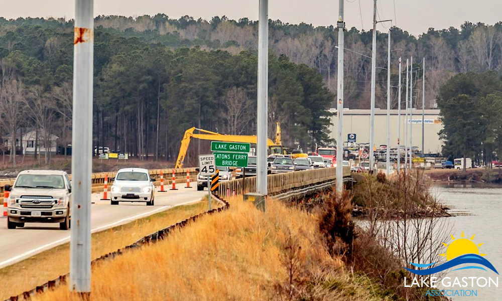 Eaton Ferry Bridge Construction Project at Lake Gaston
